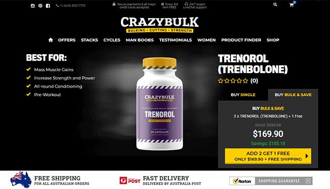 Trenorol Australia official website
